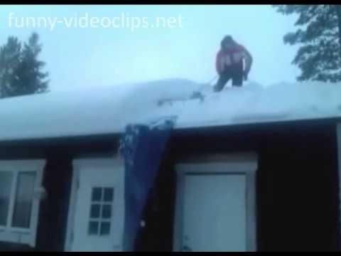 Schnee vom dach entfernen youtube for Folie von kuchenfronten entfernen