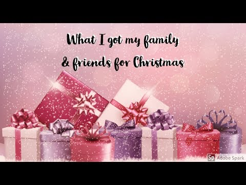 What I bought my family & friends for Christmas