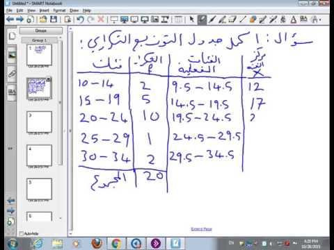 المحاضرة المباشرة ٢ - مبادئ الاحصاء - جامعة الدمام