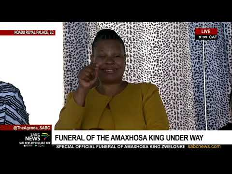 AmaXhosa King Funeral | Obituary By Noxolo Grootboom (audio)