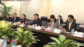 Lao NEWS on LNTV: Julie Bishop visits Laos announcing, Australia will provide AU$86 million.7/7/2014