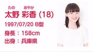 NGT48  太野 彩香 (AYAKA TANO) プロフィール映像 / NGT48[公式]