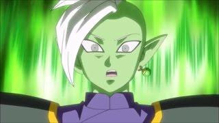 trunks uses mafuba evil containment wave against zamasu   db super episode 64