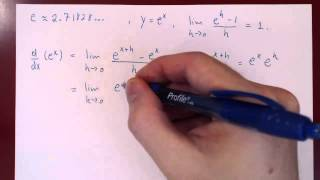 Derivative of Exponential & Logarithmic Functions - Part 1