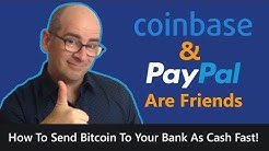 How To Convert Your Bitcoin To Cash FAST Using Coinbase and PayPal
