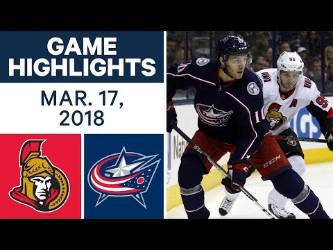 NHL Game Highlights | Senators vs. Blue Jackets - Mar. 17, 2018