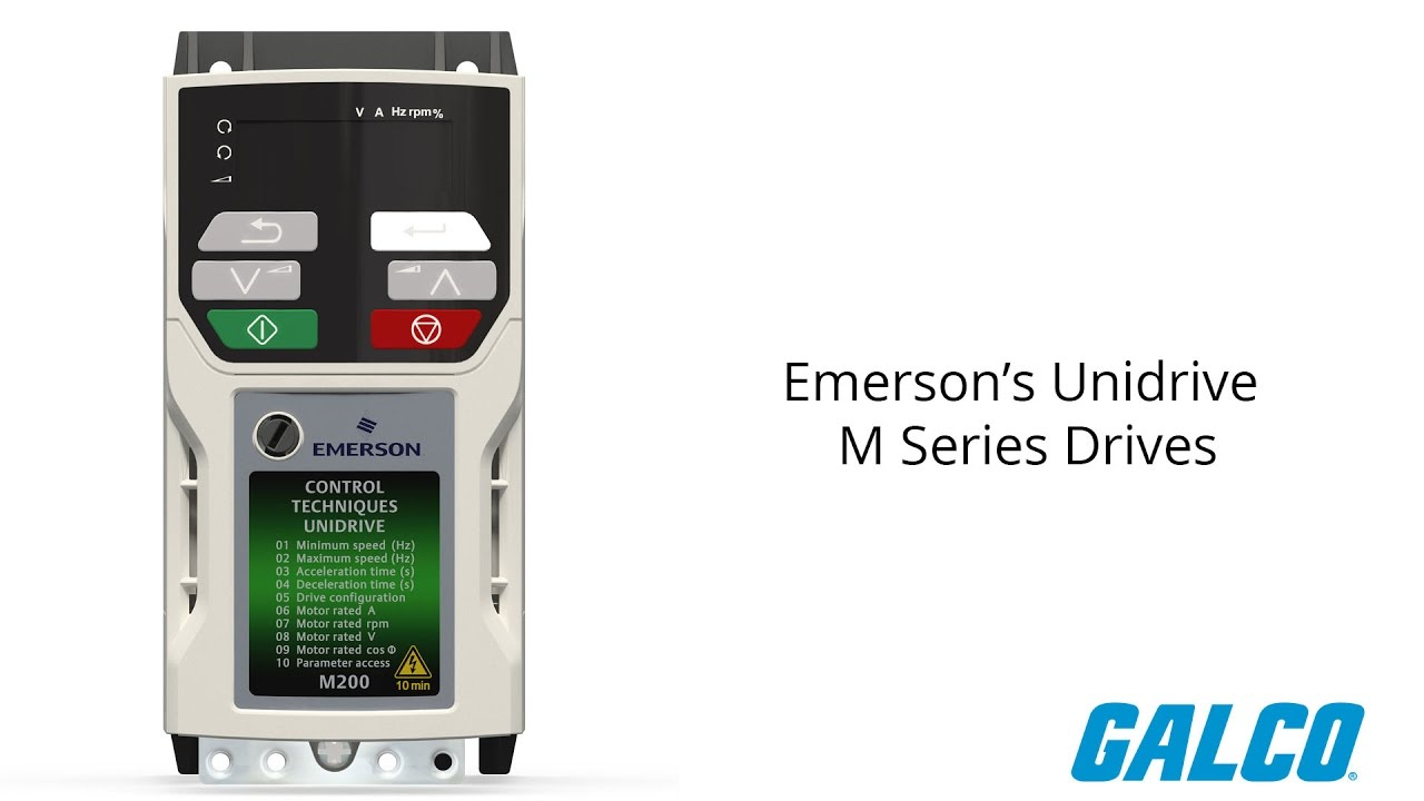 Emerson's Unidrive M Series Drives on