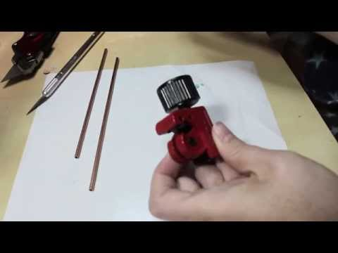 Cutting Brass Tubes For An Invisible Stand - MakingFairies.com & SculptUniversity.com