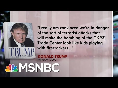 Donald Trump Predicted Large-Scale Terror Attack Before 9/11 In 2000 | Morning Joe | MSNBC