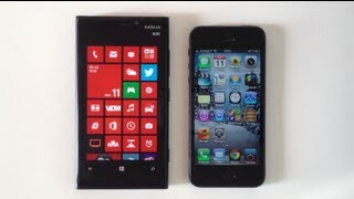 Comparatif  - Nokia Lumia 920 Pureview vs Apple iPhone 5