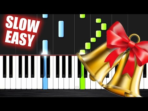 Jingle Bell Rock - SLOW EASY Piano Tutorial by Peter PlutaX