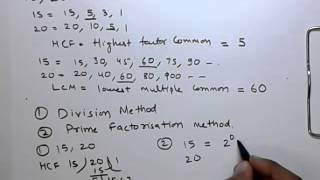 Highest Common Factor and Lowest Common Multiple (HCF & LCM) Problems With Examples - Part-1/2
