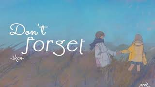 [VIETSUB/ROM] Don't forget(잊지마요) - iKON