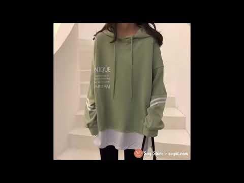 Áo Khoác Hoodie Sweater Nữ Có Mũ Vải Nỉ Thu đông Ulzzang Hàn Quốc Hàng QC Loại 1 CL1102