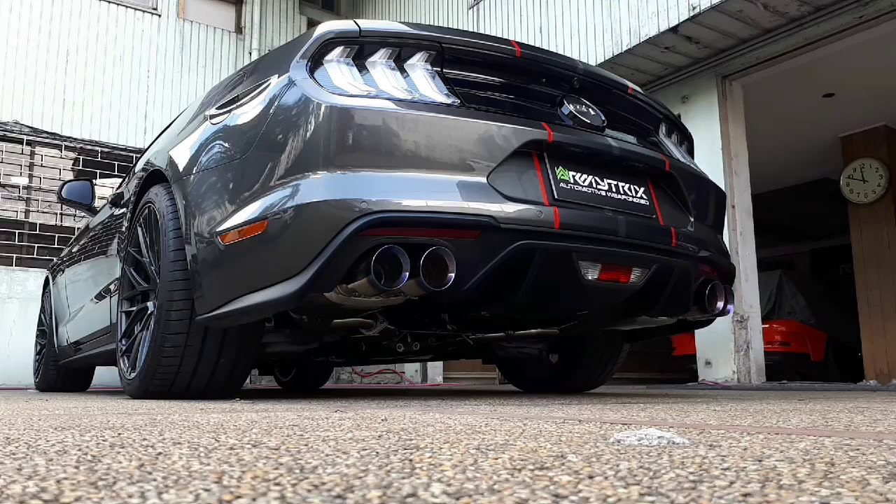 2018 Ford Mustang Gt V8 W Armytrix Header Back Valvetronic Exhaust