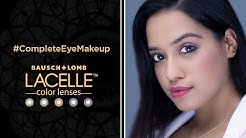 #CompleteEyeMakeUp for Your Everyday Look with the Lacelle Grey Color Lenses