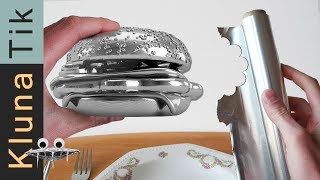 FOIL ball BURGER for lunch! Kluna Tik Dinner| ASMR sounds no talk Papel aluminio bola ,アルミホイルボール