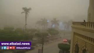 تعرض محافظة بني سويف لعواصف رملية وترابية ..فيديو