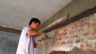 How To Render Ceiling beams Using Sand And Cement - Rendering Techniques Inside House