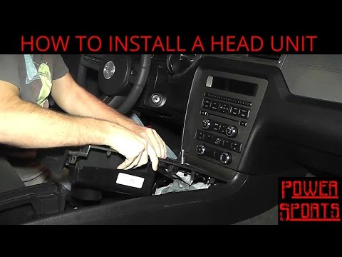 How To Install A Head Unit In A Ford Mustang - Factory Stereo Upgrade Guide