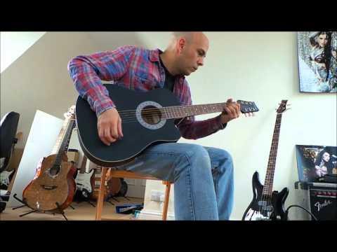 Beginner Acoustic Guitar 38 inch matt black hasguitar