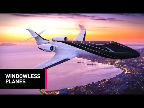The Plane of the Future: A Windowless Jet