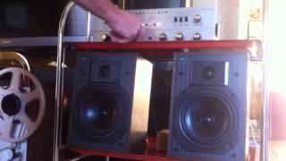 Fisher X-202-B Amplifier KEF C10 Stereo Speakers