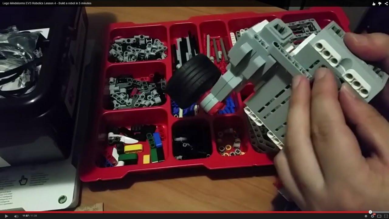 Lego Mindstorms EV3 Robotics Lesson 4 - Build a robot in 5 minutes