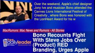 Bono Recounts Fight With Steve Jobs Over (Product) RED Branding, Urges Apple to Do More