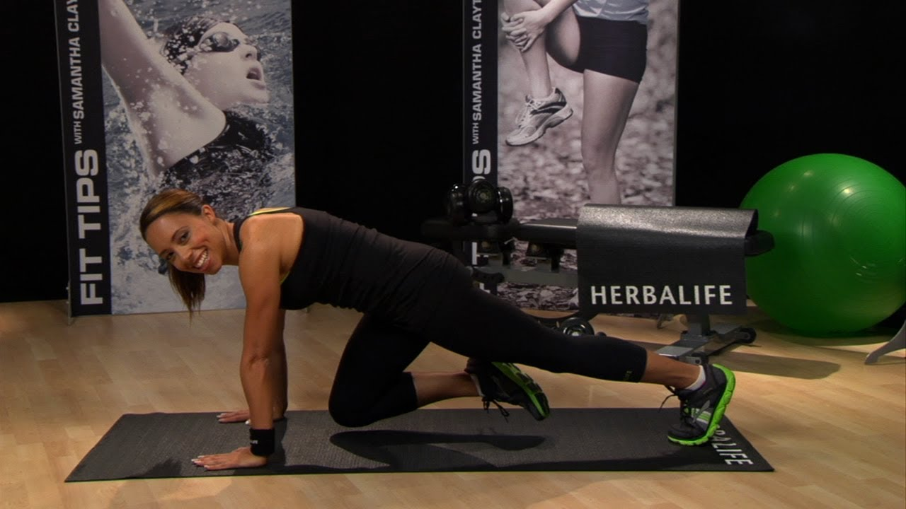 Mountain climbers workout: Samantha Clayton's one-minute challenge | Herbalife Fit Tips