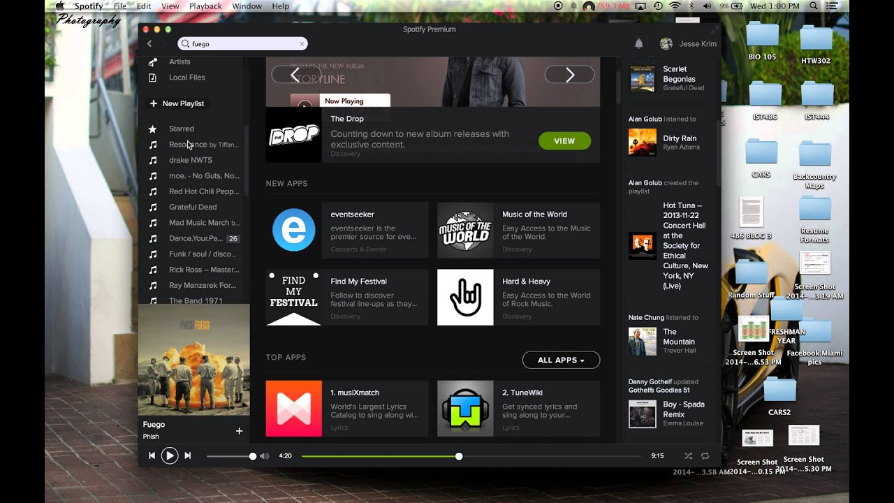 how to listen to spotify on mac