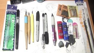 My Drawing Supplies and Materials