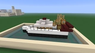 Minecraft Как построить Катер Bonus 1