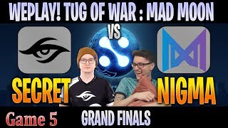 [ENG] Secret vs Nigma Game 5   Bo5   GRAND FINALS WePlay! Tug of War: Mad Moon 2020 CAST @Crysis