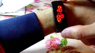 Светодиодные цифровые (LED) спортивные часы-браслет.А-ля смарт-браслет.Aliexpress))).