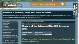 how to download shadow of the colossus ps2 iso fast (tutorial )