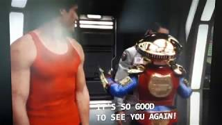 Power Rangers Lost Galaxy: Mike and Alpha Meet Andros The Red Ranger