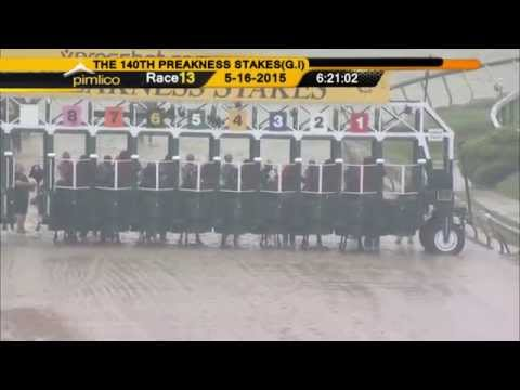 American Pharoah wins the Preakness Stakes