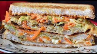 Egg & Cheese Sandwich | Breakfast Toast | Vegetable Omelette