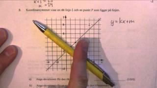 Matematik 2c - Lösning av det nationella provet vt 2015 del B