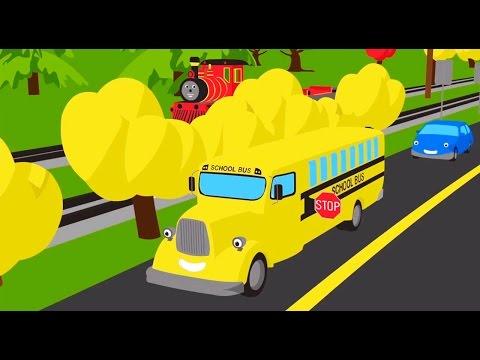 Мультик - раскраска для детей: Паровозик Шонни: Учим цвета: Автобус: Мультики про паровозики