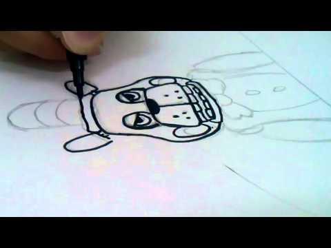 Мой друг рисует персонажа из игры 5 ночей с фредди