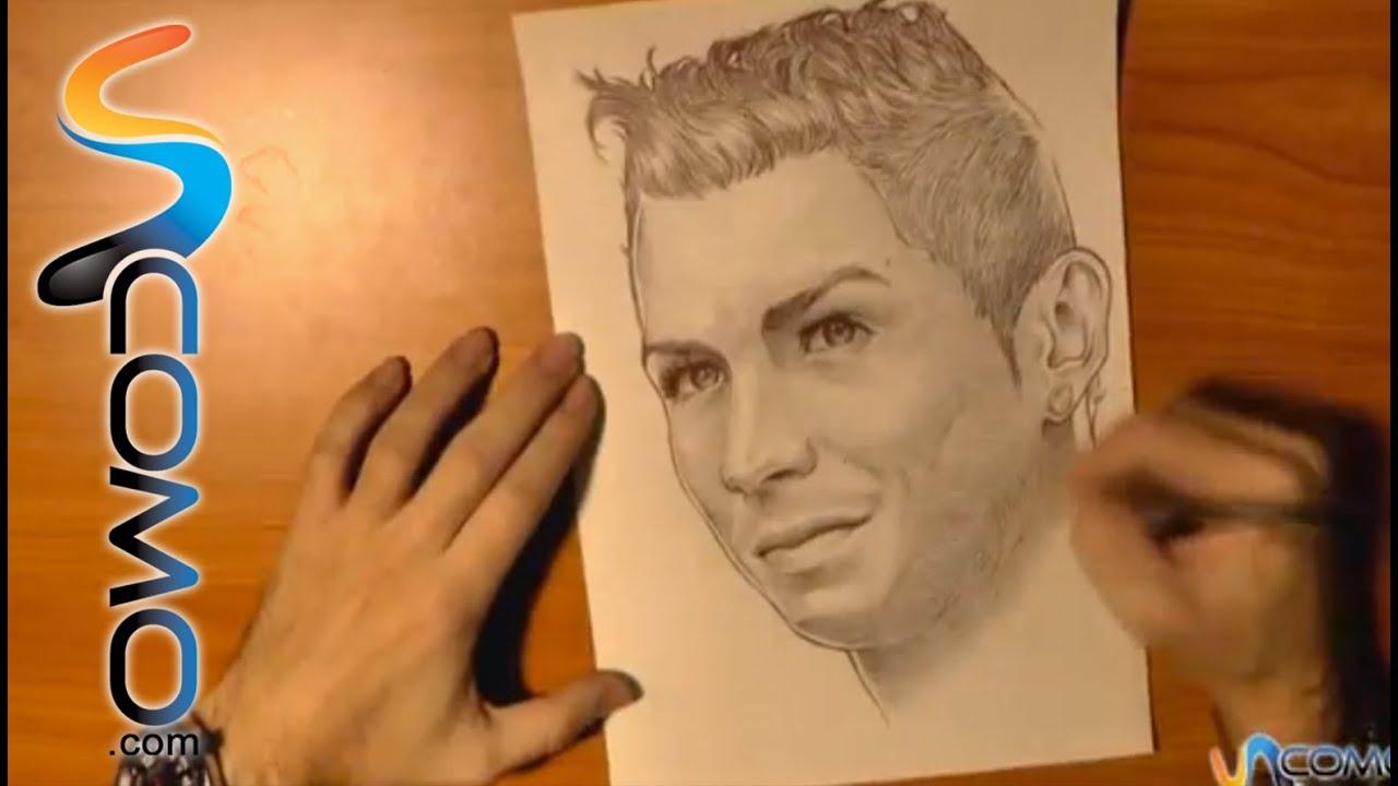 Dibujar a Cristiano Ronaldo  Draw Cristinano Ronaldo  YouTube