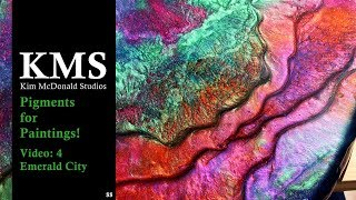 KMS 88 ~ Layered Resin art - Pigments for Paintings! #BigColor