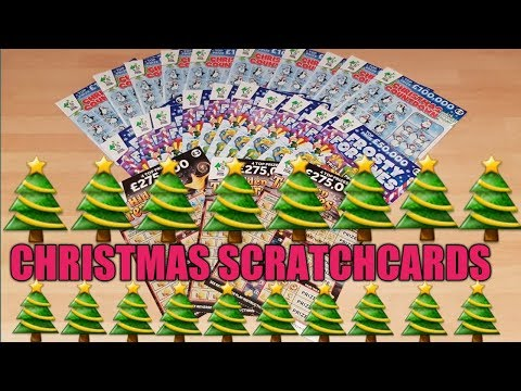 NEW CHRISTMAS SCRATCHCARDS