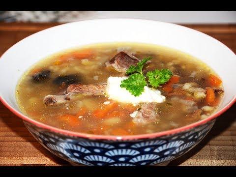 Грибной суп из сушеных грибов с перловкой рецепт с фото в мультиварке