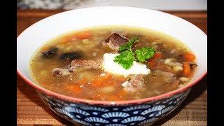 Грибной Суп из Сушеных Грибов с Перловкой и Ребрышками в Мультиварке Скороварке Redmond