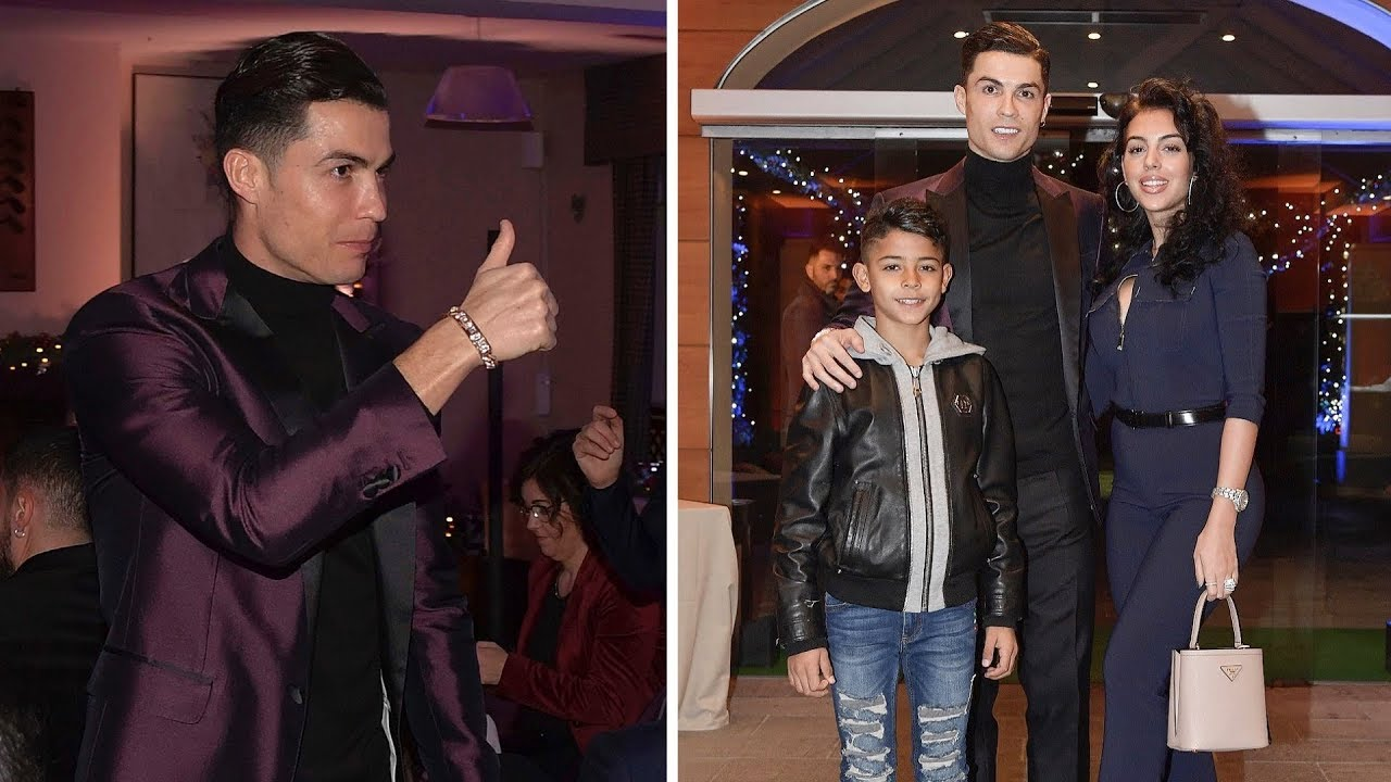 Cristiano Ronaldo Christmas Dinner Party 2019 with fiancée, son and Juve team
