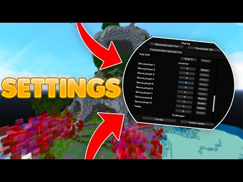 MINE MINECRAFT SETTINGS!