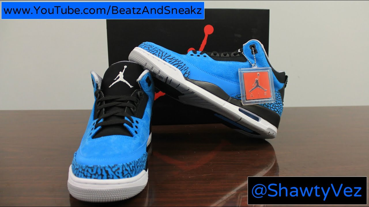 Air Jordan Retro 3 Powder Blue Review - YouTube